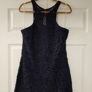 Lilly Pulitzer 🌺 Crochet Jamie Shift Dress  Navy